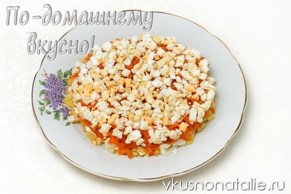 Салат мимоза с консервой рецепт с пошагово
