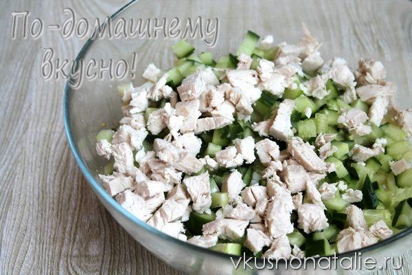 салат оливье с курицей рецепт с фото