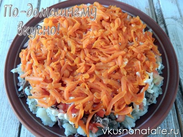 салат подсолнух пошаговый рецепт с фотографиями