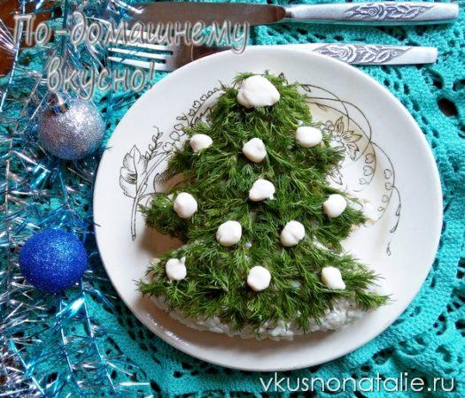 салат новогодняя елочка пошаговый рецепт с фото