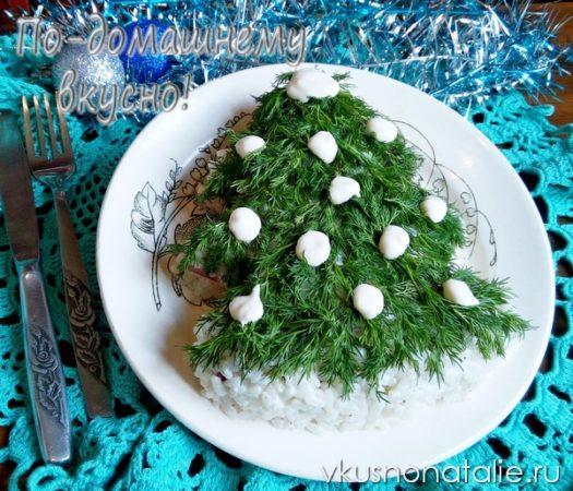 салат новогодняя елочка рецепт с фото