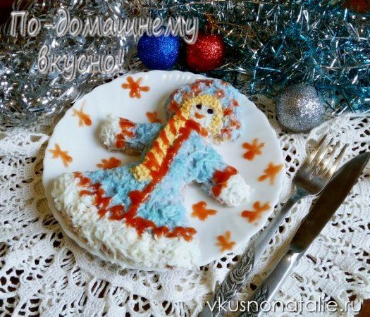 салат снегурочка новогодний