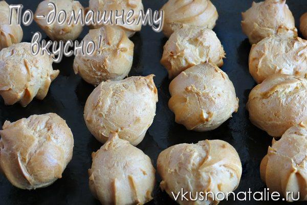 заварные пирожные рецепт с фото пошагово