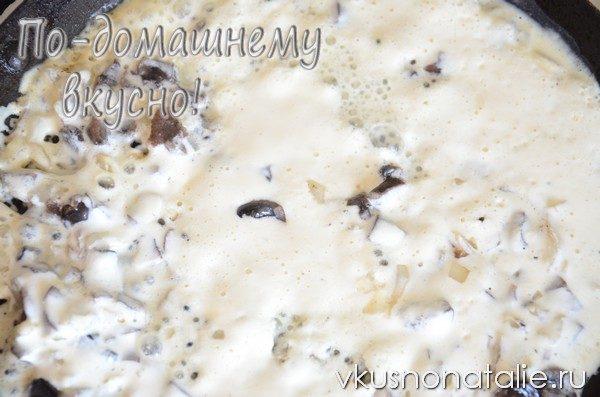сметанный соус с грибами