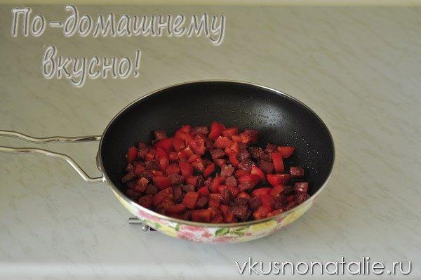 омлет с колбасой рецепт