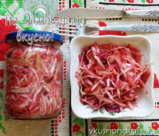 салаты из капусты заготовки на зиму