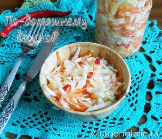салаты из капусты рецепты на зиму