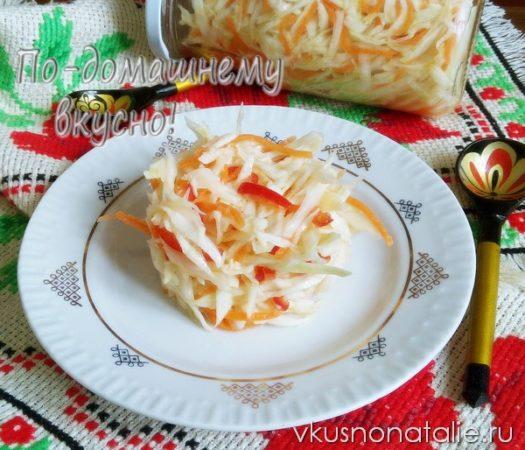 рецепты заготовок салатов из капусты на зиму