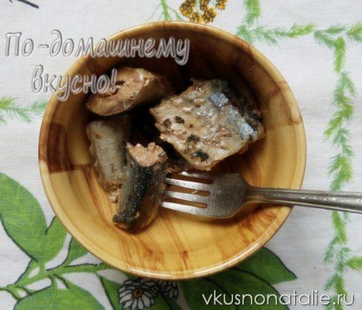 слоеный салат с сайрой