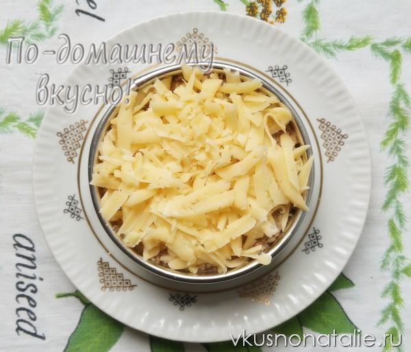 Рецепт слоеный салата с сайрой