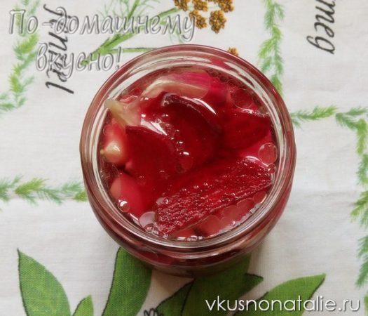 маринованный чеснок со свеклой рецепт с фото