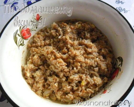 рецепт пирожки с рисом и ливером