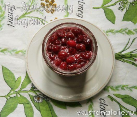 вишня в собственном соку на зиму рецепт с фото