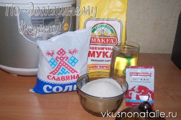 белый дрожжевой хлеб в мультиварке рецепт