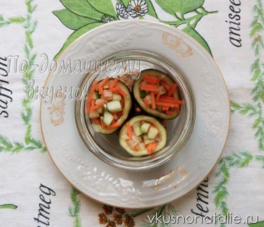 фаршированные баклажаны на зиму пошаговый рецепт с фото