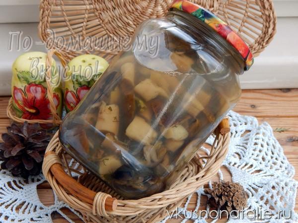 маринованные грибы рядовки на зиму