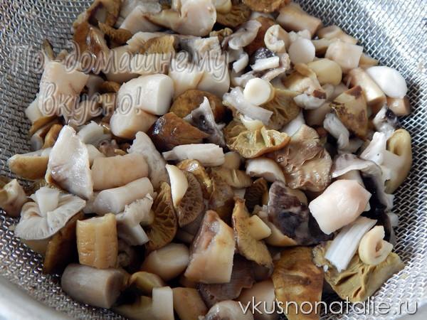 рядовки на зиму маринованные пошаговый рецепт