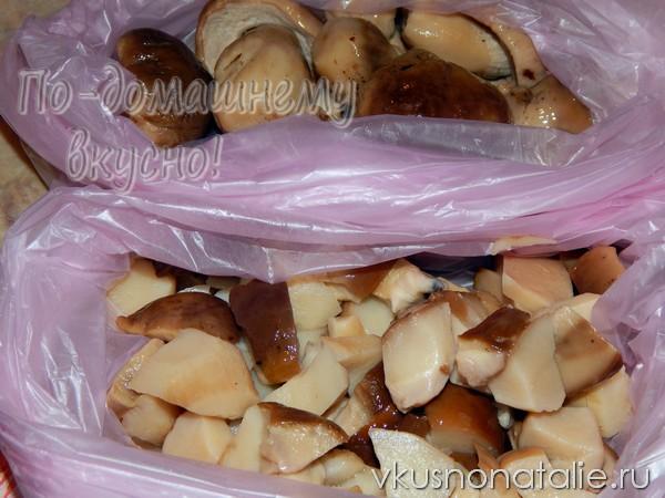 замороженные белые грибы на зиму рецепт