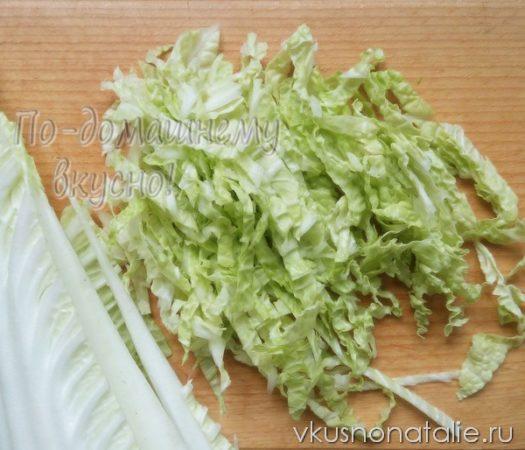 салат из пекинской капусты с тунцом пошаговый рецепт