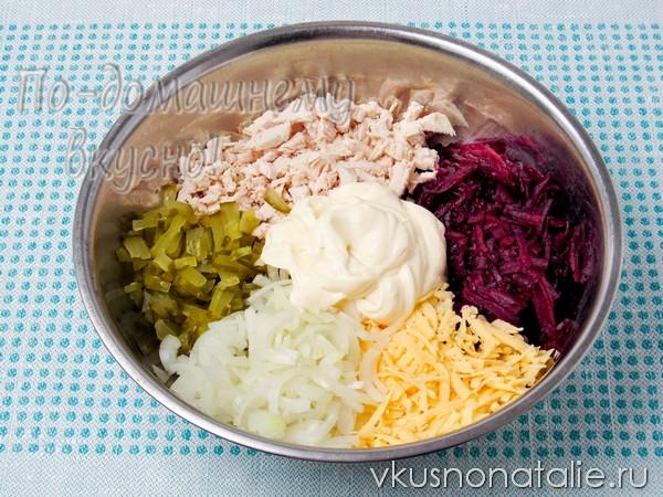 салат сирень пошаговый рецепт с фото