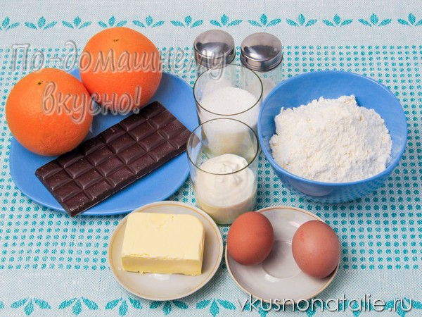 кекс апельсиновый с шоколадом