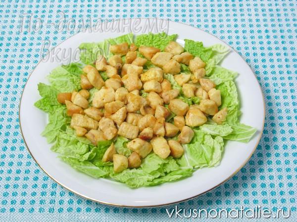 салат цезарь классический с курицей и сухариками рецепт