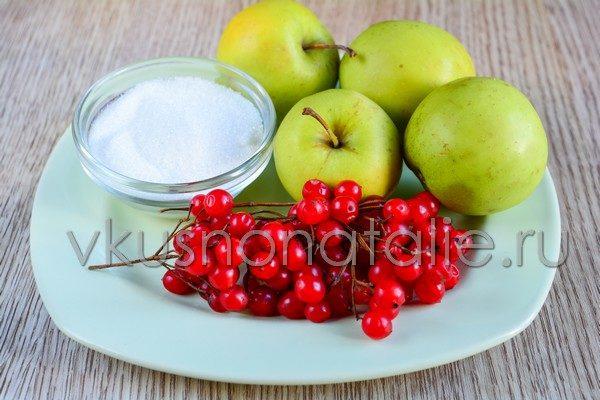 джем из яблок и калины на зиму