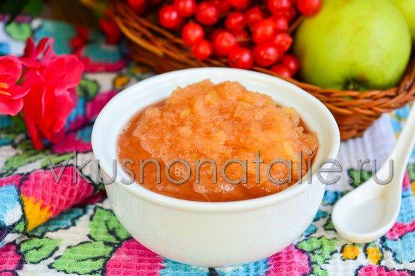 джем из яблок и калины на зиму пошаговый рецепт как приготовить