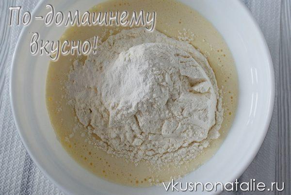 бисквит с творогом и изюмом рецепт