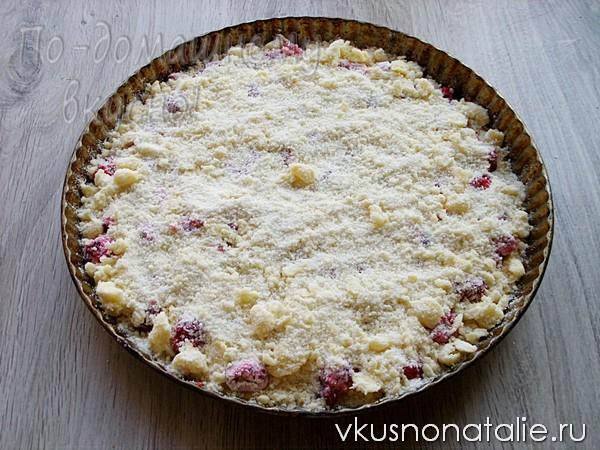 пирог с малиной рецепт