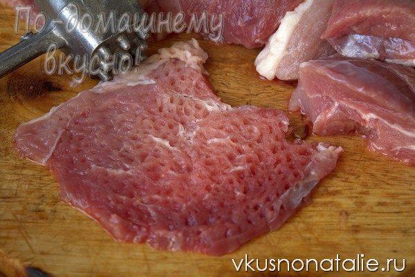отбивные из свинины с сыром