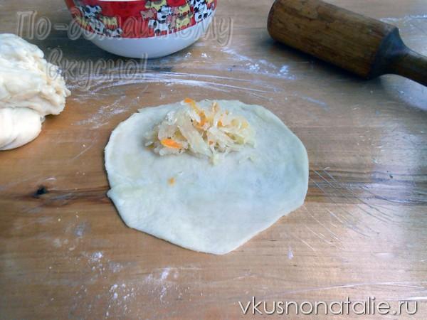 жареные пирожки с капустой пошаговый рецепт