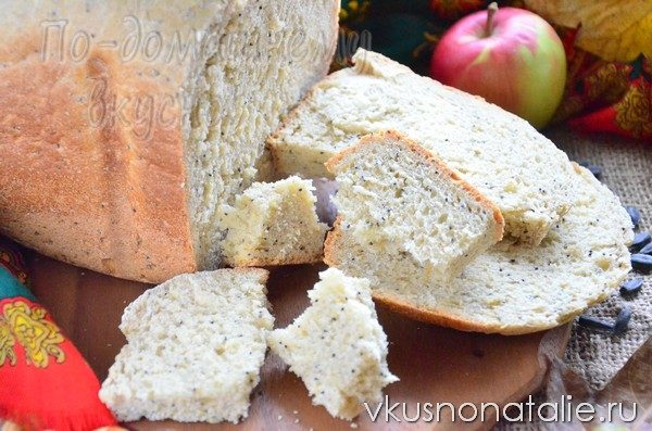 хлеб с цедрой и маком